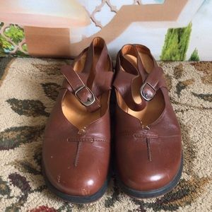Murtosa brown slip-on sandals 9